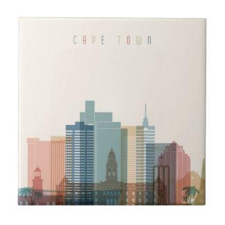 Cape Town, Africa | City Skyline Ceramic Tile