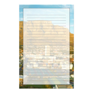 Cape Town Cityscape With Table Mountain Personalised Stationery
