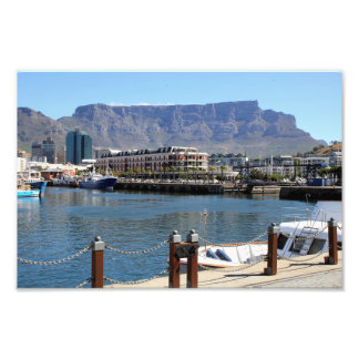 Cape Town Harbour and Table Mountain Photo Print