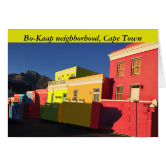 Cape Town, South Africa, Bo-Kaap, Wale Street, Card
