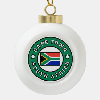 Cape Town South Africa Ceramic Ball Christmas Ornament
