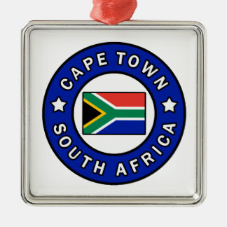Cape Town South Africa Metal Ornament