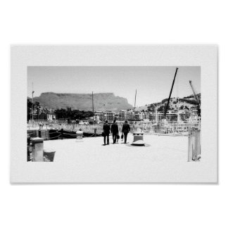 Cape Town Table Mountain 3 Men BNW Poster
