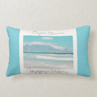 Cape Town Table Mountain Happy Vibes Throw Pillow