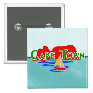 Cape Town Table Mountain South Africa Square Badge