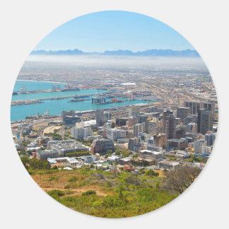 Cape Town, Western Cape, South Africa 3 Round Sticker