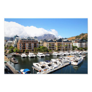 Cape Town's harbour and its boats in South Africa Photo Art