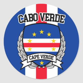 Cape Verde Classic Round Sticker