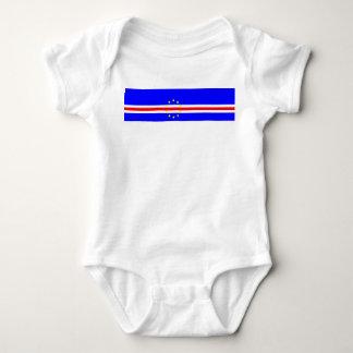 Cape Verde country flag symbol long Baby Bodysuit