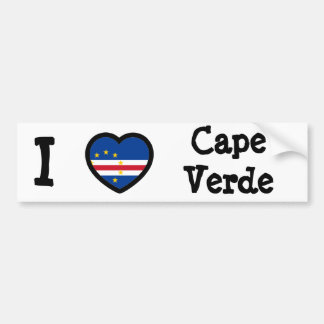 Cape Verde Flag Bumper Sticker