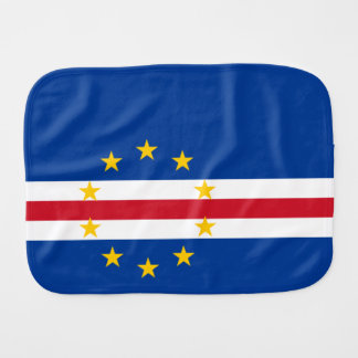 Cape Verde Flag Burp Cloth