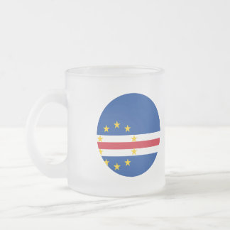 Cape Verde Flag Frosted Glass Coffee Mug