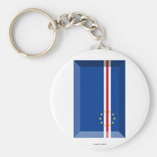 Cape Verde Flag Jewel Keychain