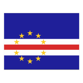 Cape Verde Flag Postcard
