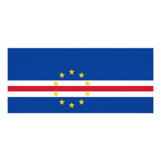 Cape Verde Flag Rack Card