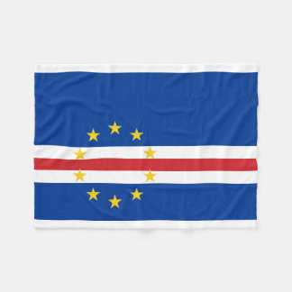 Cape Verde National World Flag Fleece Blanket