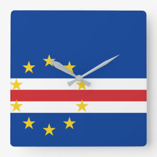 Cape Verde National World Flag Square Wall Clock