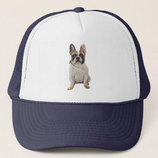 Cape with french bulldog design trucker hat