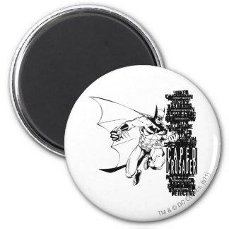 Caped Crusader Sketch 6 Cm Round Magnet