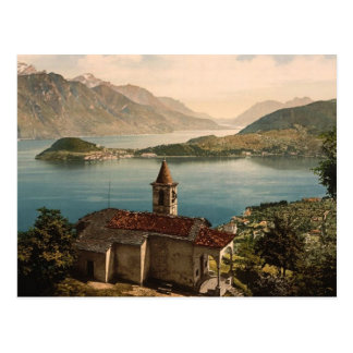 Capello St. Angelo and view of Bellagio, Lake Como Postcard