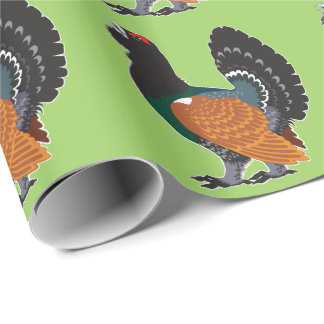 capercaillie wrapping paper