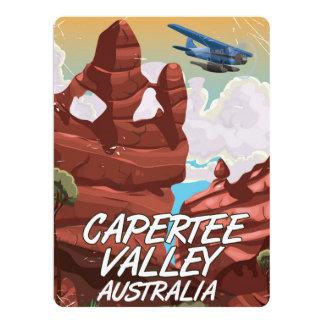 Capertee Valley Australia travel poster 17 Cm X 22 Cm Invitation Card