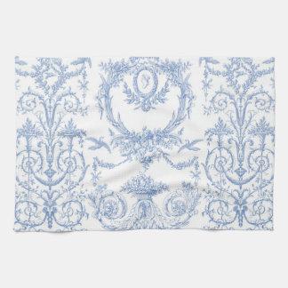 Capetian Toile blueberry Tea Towel