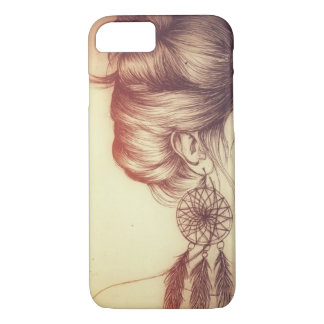 Capinha for iPhone 7, Barely There Thumb Girl iPhone 8/7 Case