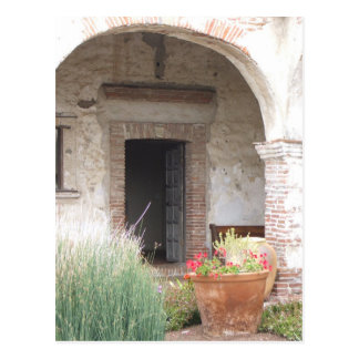 Capistrano Mission Doorway postcard