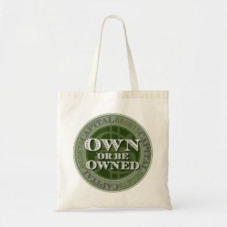 Capital Begets Capital (green emblem) Budget Bag