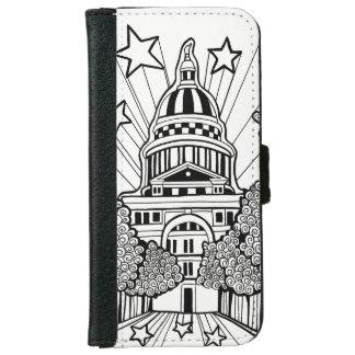 Capital Building Texas Line Art Design iPhone 6 Wallet Case