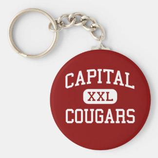 Capital - Cougars - High - Olympia Washington Basic Round Button Key Ring