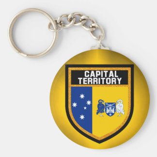 Capital Territory Flag Basic Round Button Key Ring