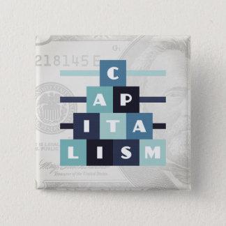 Capitalism 15 Cm Square Badge