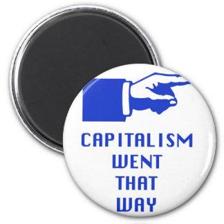 capitalism 6 cm round magnet