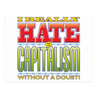 Capitalism Hate Face Post Cards