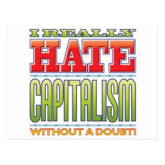 Capitalism Hate Post Cards