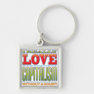Capitalism Love Keychains