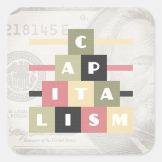 Capitalism Square Sticker