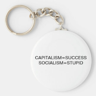 CAPITALISM=SUCCESS SOCIALISM=STUPID KEY RING