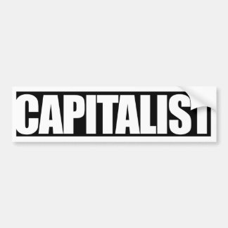 CAPITALIST Bumper Sticker