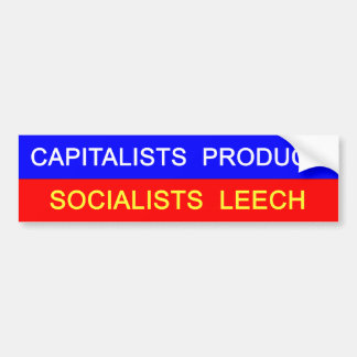 Capitalists vs Socialists Bumper Sticker