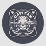 Capitan Classic Round Sticker