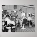 Capitol Barber Shop, 1938 Vintage Photo Poster
