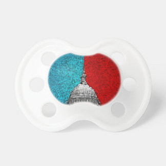 Capitol Building Abstract Baby Pacifiers