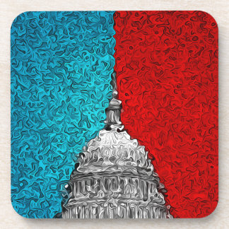 Capitol Building Abstract Drink Coaster