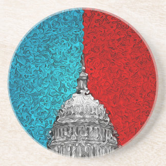 Capitol Building Abstract Drink Coasters