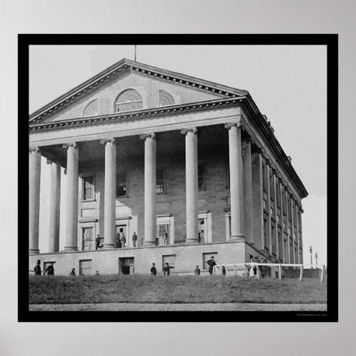 Capitol Building in Richmond, VA 1865 Poster