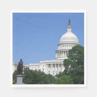 Capitol Building in Washington DC Disposable Serviettes