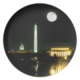 Capitol Building, Lincoln Memorial, Washington Dinner Plate